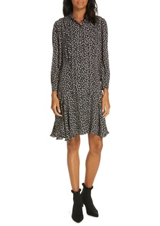 Rebecca Taylor Cheetah Print Silk Dress