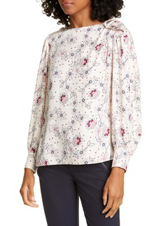 Rebecca Taylor Claudine Silk Blend Top