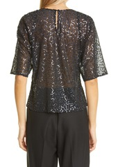 Rebecca Taylor Cleo Sequin Blouse