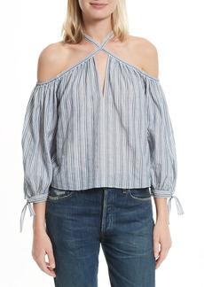 Rebecca Taylor Cold Shoulder Cotton Blouse