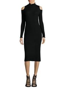 Rebecca Taylor Cold Shoulder Merino Wool Sheath Dress