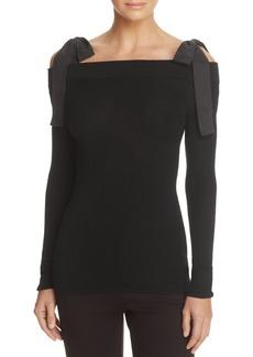 Rebecca Taylor Cold-Shoulder Merino Wool Sweater