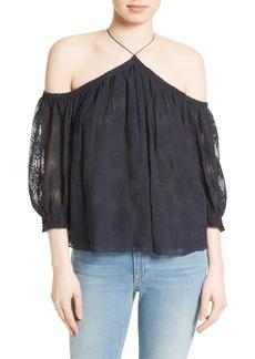 Rebecca Taylor Cold Shoulder Silk Blouse