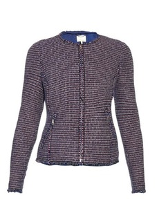 Rebecca Taylor Collarless graphic-tweed jacket