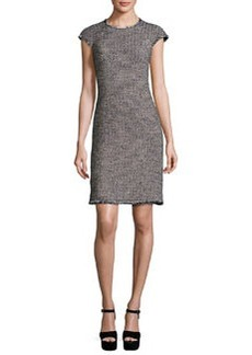 Rebecca Taylor Confetti Tweed Cap-Sleeve Dress