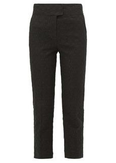 Rebecca Taylor Cotton-blend jacquard trousers