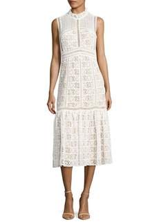 Rebecca Taylor Cotton Crochet Dress