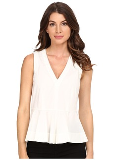 Rebecca Taylor Cotton Poplin Peplum Top