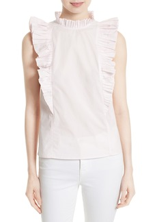 Rebecca Taylor Cotton Poplin Top