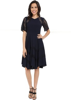 Rebecca Taylor Crepe and Lace Dress