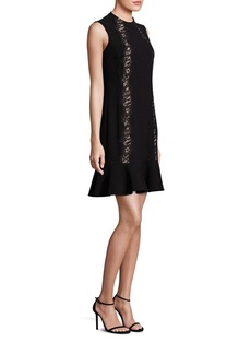 Rebecca Taylor Crepe Lace Applique Dress