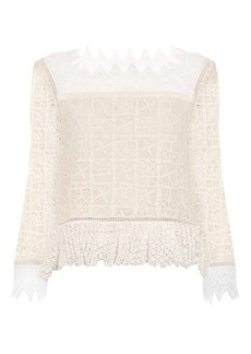 Rebecca Taylor Crochet-lace square-neck top