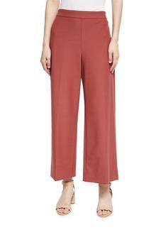 Rebecca Taylor Cropped Wide-Leg Suit Pants