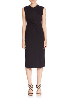 Rebecca Taylor Crossover Front Wool Blend Dress