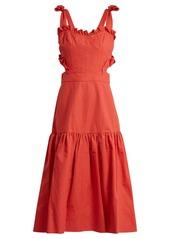 Rebecca Taylor Cut-out cotton and linen-blend dress