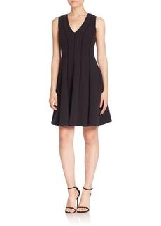Rebecca Taylor Cutout Textured A-Line Dress