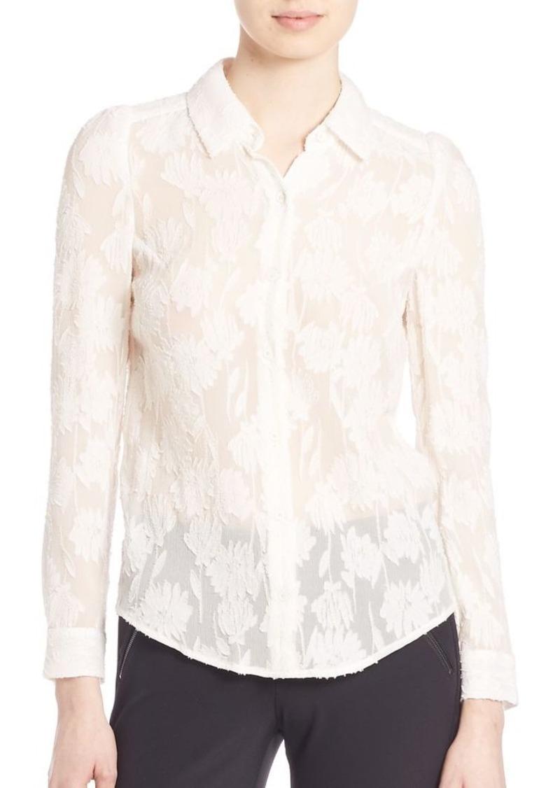 Rebecca Taylor Daisy Clip Silk Blend Shirt