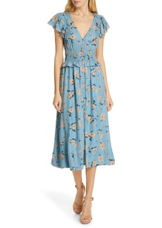Rebecca Taylor Daniella Floral Jacquard Silk Blend Dress