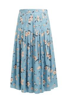 Rebecca Taylor Daniella floral-print silk-blend midi skirt