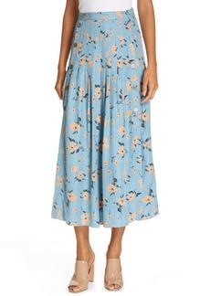 Rebecca Taylor Daniella Jacquard Midi Skirt