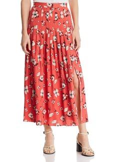 Rebecca Taylor Daniella Pleated Jacquard Skirt