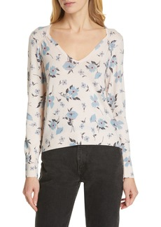 Rebecca Taylor Daniella Wool & Cashmere V-Neck Sweater
