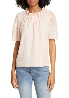 Rebecca Taylor Daybreak Short Sleeve Silk Top