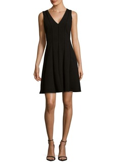 Rebecca Taylor Diamond Textured Fit-&-Flare Dress