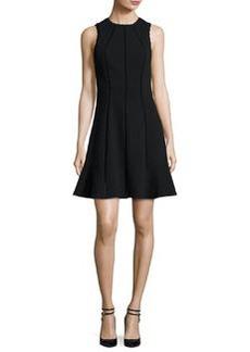Rebecca Taylor Diamond-Textured Sleeveless Fit & Flare Dress