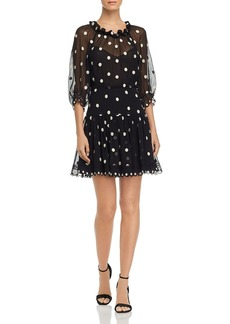 Rebecca Taylor Dot Embroidered Mini Dress
