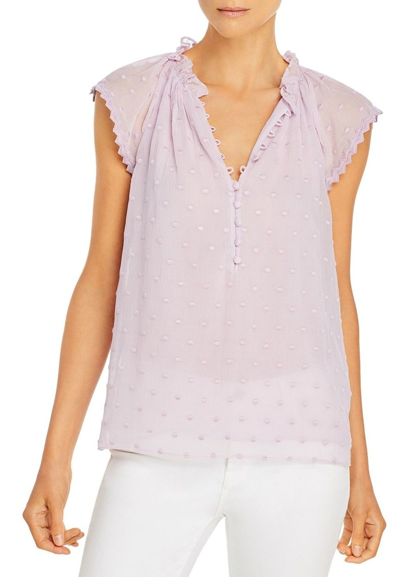 Rebecca Taylor Dot Embroidered Top