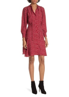 Rebecca Taylor Dot Print Fit & Flare Dress
