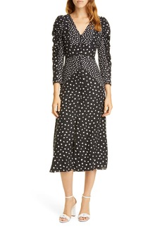Rebecca Taylor Dot Print Silk Blend Dress