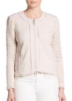Rebecca Taylor Dot Punch Tweed Jacket