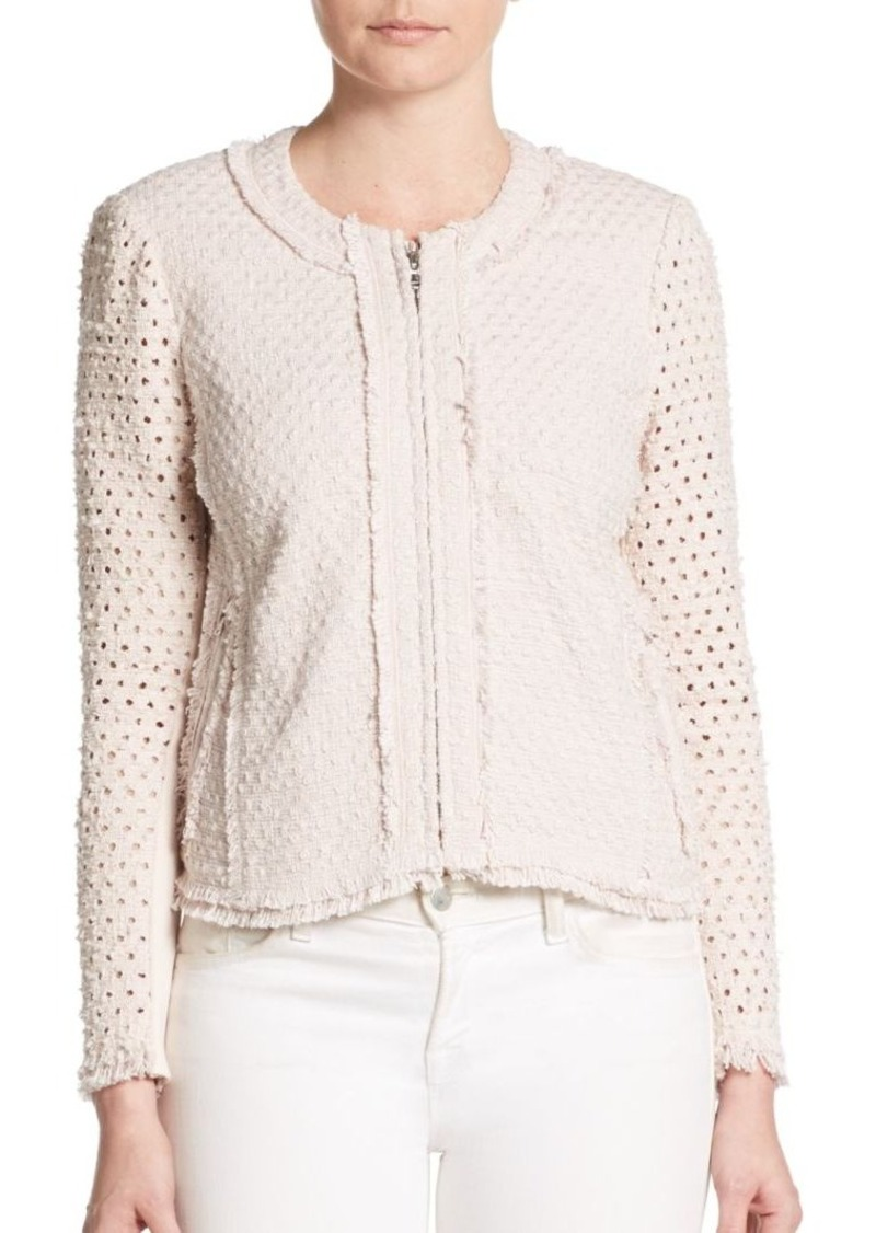 Rebecca Taylor Dot Punch Tweed Jacket