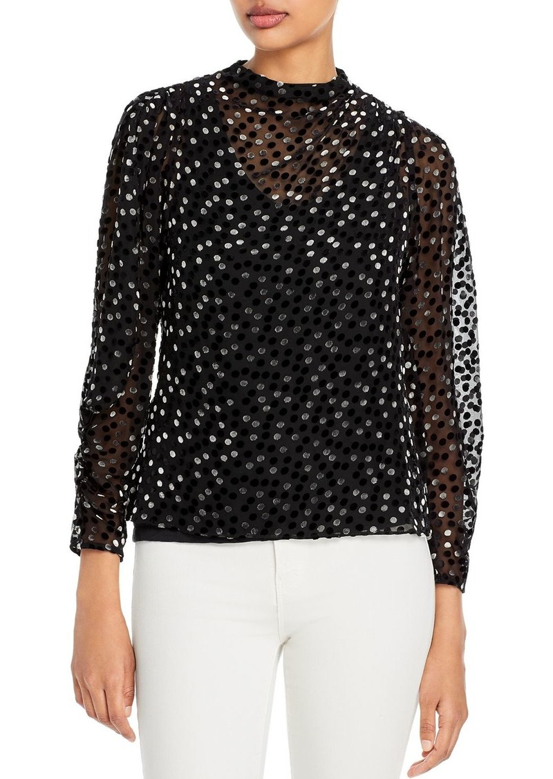 Rebecca Taylor Dotted Sheer Top