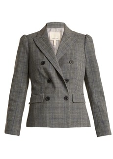 Rebecca Taylor Double-breasted checked jacket