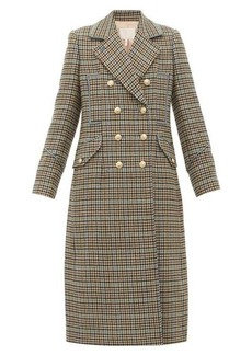 Rebecca Taylor Double-breasted houndstooth wool-blend coat