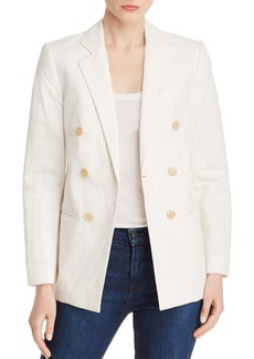 Rebecca Taylor Double-Breasted Pinstriped Blazer