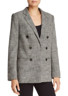 Rebecca Taylor Double-Breasted Plaid Blazer