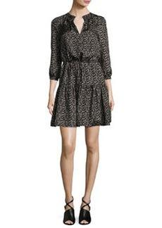 Rebecca Taylor Dragonfly Silk Blouson Dress