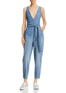 La Vie Rebecca Taylor Draped Denim Jumpsuit
