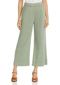 Rebecca Taylor Drapey Cotton Wide-Leg Pants