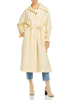 Rebecca Taylor Drawstring Faille Trench Coat
