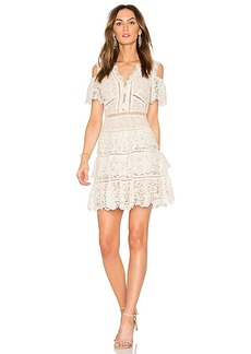 Rebecca Taylor Eliza Cold Shoulder Lace Dress in White. - size 4 (also in 2,6)