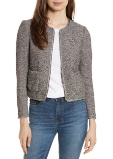Rebecca Taylor Embellished Stretch Tweed Jacket