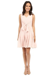 Rebecca Taylor Embroidered Gauze Sleeveless Embroidered Gauze Dress