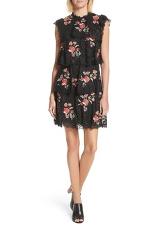 Rebecca Taylor Embroidered Lace Dress