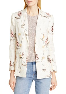 Rebecca Taylor Embroidered Linen Blazer