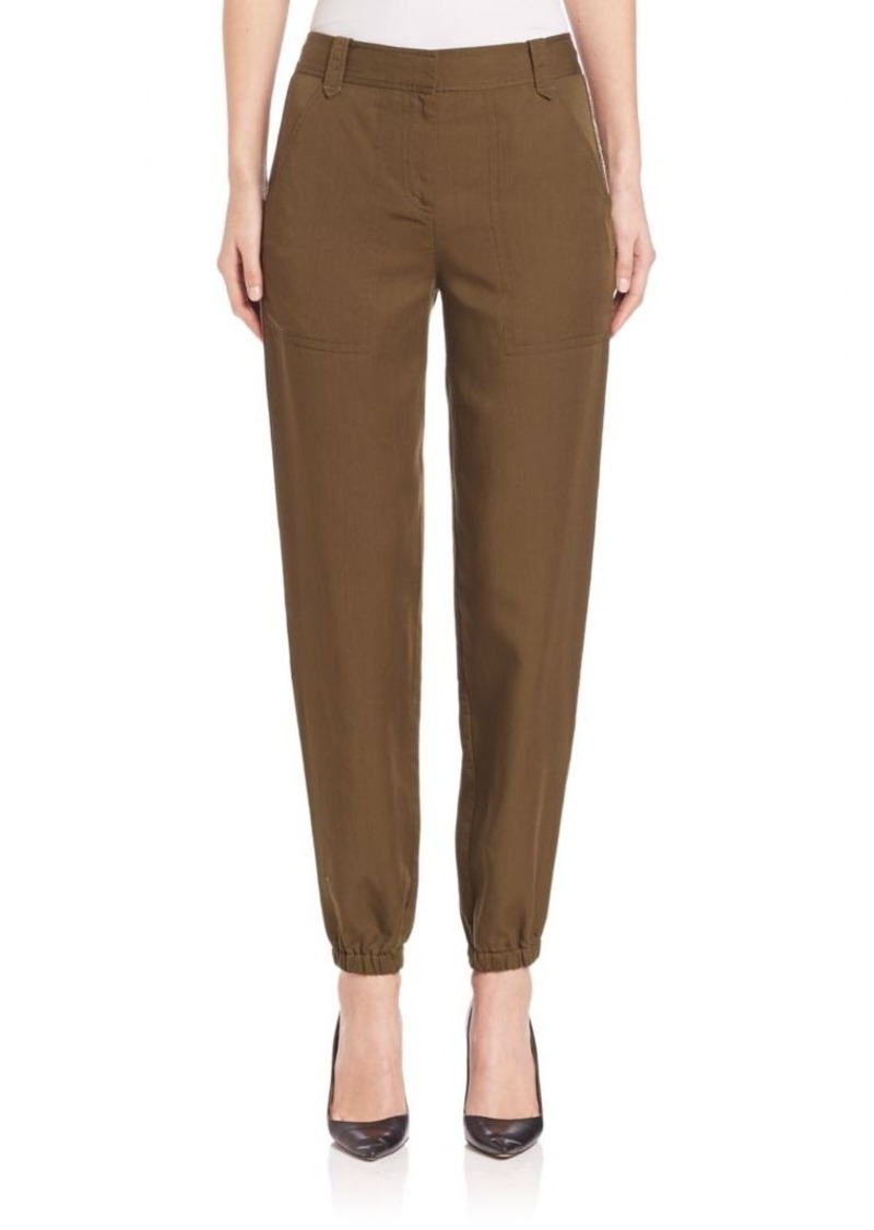Rebecca Taylor Embroidered Twill Pants
